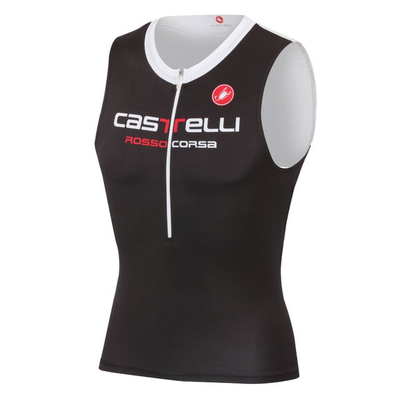 Castelli Body Paint 2 Tri Top Black-White - Classic Cycling