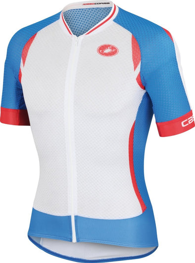 Castelli Climbers 2.0 Jersey - White-Drive Blue-Red - Classic Cycling
