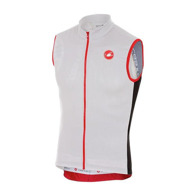 Castelli Entrata 2 Sleeveless FZ - White - Classic Cycling