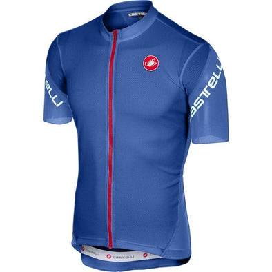Castelli Entrata 3 FZ Jersey - Surf Blue - Classic Cycling