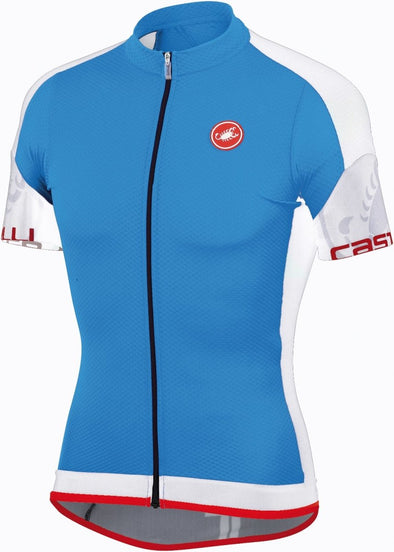Castelli Entrata FZ Jersey - Drive Blue-White - Classic Cycling
