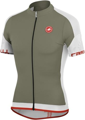 Castelli Entrata Jersey Full Zip Slate-White - Classic Cycling