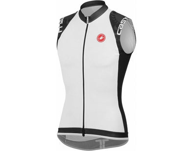 Castelli Entrata Sleeveless FZ - White-Black - Classic Cycling