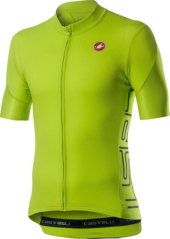 Castelli Entrata V Jersey - Chartreuse - Classic Cycling