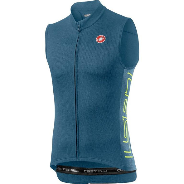 Castelli Entrata V Sleeveless - Blue - Classic Cycling