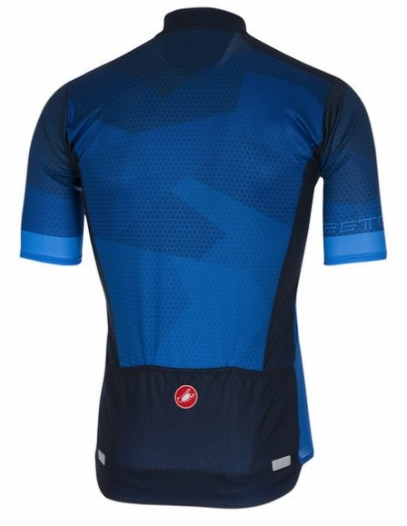 Castelli Flusso FZ Short Sleeve Jersey - Surf Blue - Classic Cycling