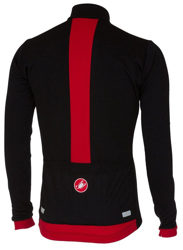Castelli Fondo FZ Jersey - Black-Red - Classic Cycling
