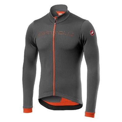 Castelli Fondo FZ Jersey - Grey- Orange - Classic Cycling