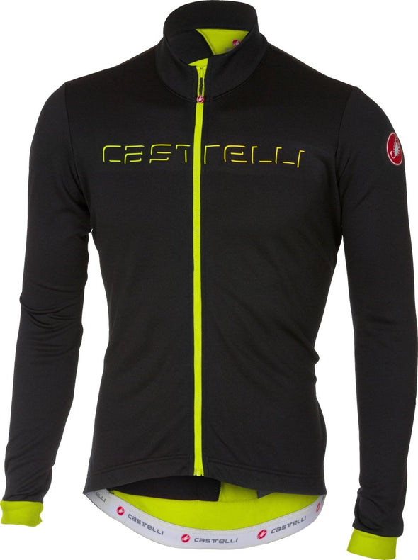 Castelli Fondo FZ Jersey - Light Black - Fluo - Classic Cycling