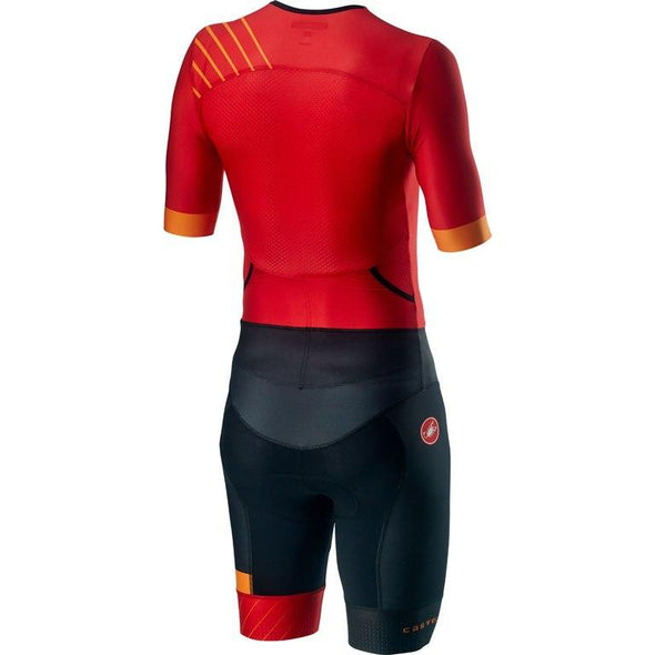Castelli Free Sanremo 2 Suit Short Sleeve - Red - Classic Cycling