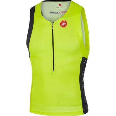 Castelli Free Tri Top - Yellow - Classic Cycling