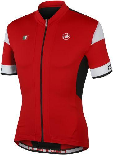 Castelli Fuga Jersey - Red - Black - Classic Cycling