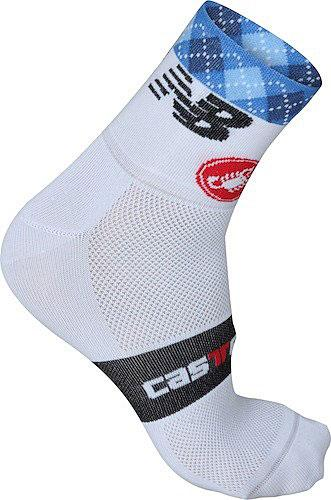 Castelli Garmin Cycling Socks 9cm - White - Classic Cycling