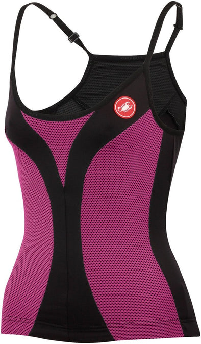 Castelli Ipnosi Sleeveless Top - Black-Fuscia - Classic Cycling