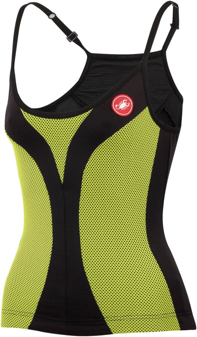 Castelli Ipnosi Sleeveless Top - Black-Lime - Classic Cycling