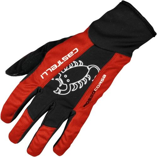 Castelli Leggenda Winter Glove - Black - Red - Classic Cycling