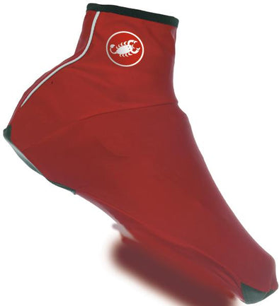 Castelli Lycra Shoe Cover - Red - Classic Cycling