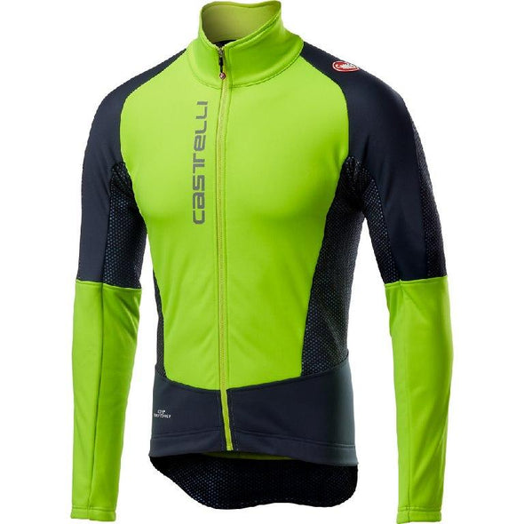Castelli Mortirolo V Jacket - Yellow Fluo - Classic Cycling