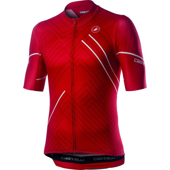 Castelli Passo Jersey - Red - Classic Cycling