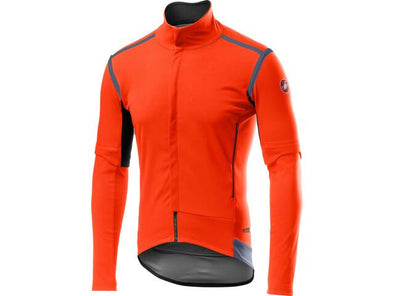 Castelli Perfetto RoS Convertible Jacket - Orange - Classic Cycling