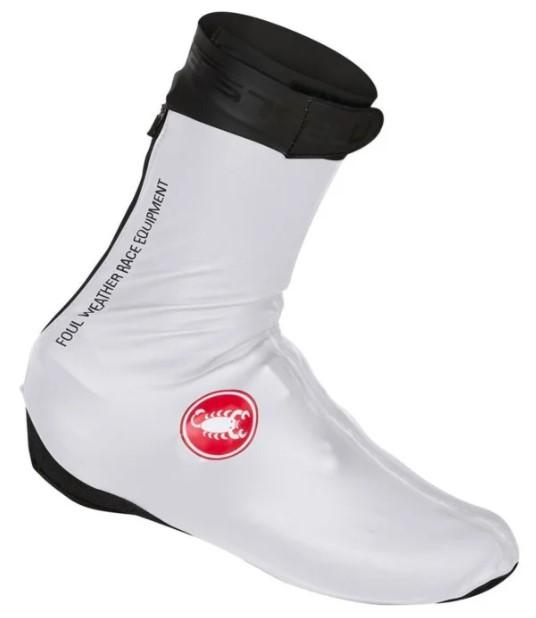 Castelli Pioggia 3 Shoecover - White - Classic Cycling