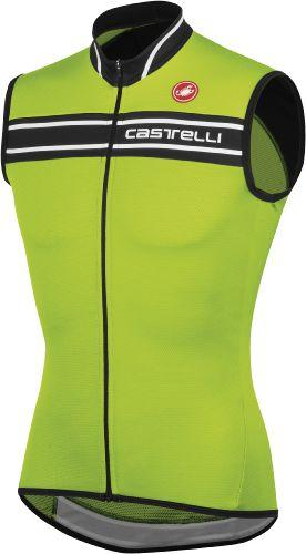 Castelli Prologo 3 Sleeveless Jersey - Acid Green - Classic Cycling