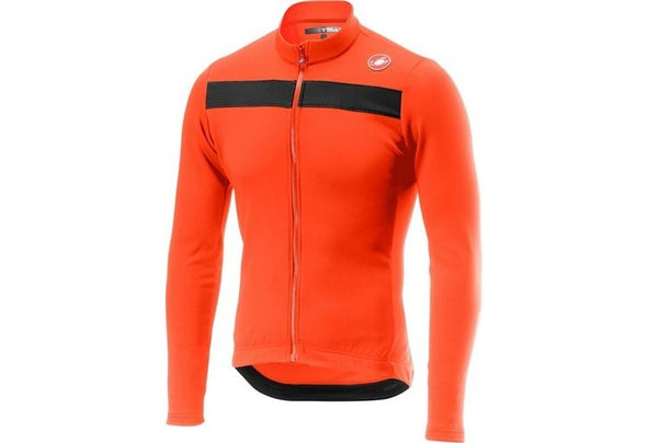 Castelli Puro 3 Jersey FZ - Orange - Classic Cycling