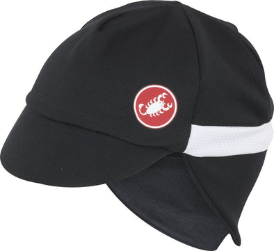 Castelli Risvolto Winter Cap Black-White - Classic Cycling