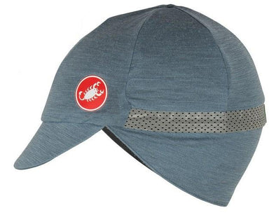 Castelli Risvolto Winter Cap Grey-Black - Classic Cycling