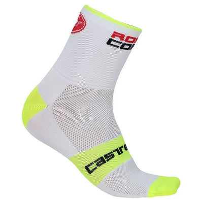 Castelli Rosso Corsa 9 Sock - White - Classic Cycling
