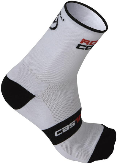 Castelli Rosso Corsa Cycling Sock 13cm - White - Classic Cycling