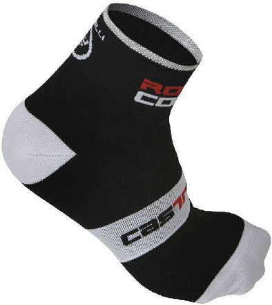 Castelli Rosso Corsa Cycling Sock 6cm - Black - Classic Cycling