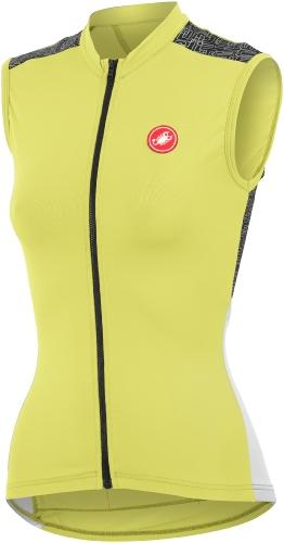 Castelli Scarabocchio Sleeveless FZ Lemon-White - Classic Cycling