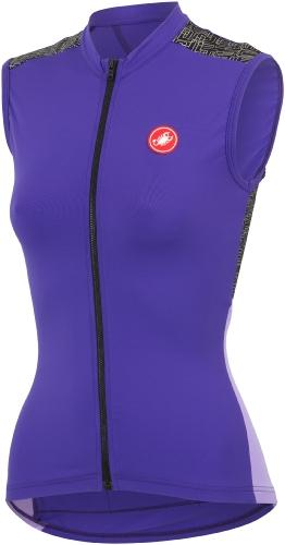 Castelli Scarabocchio Sleeveless FZ Violet-Lilac - Classic Cycling