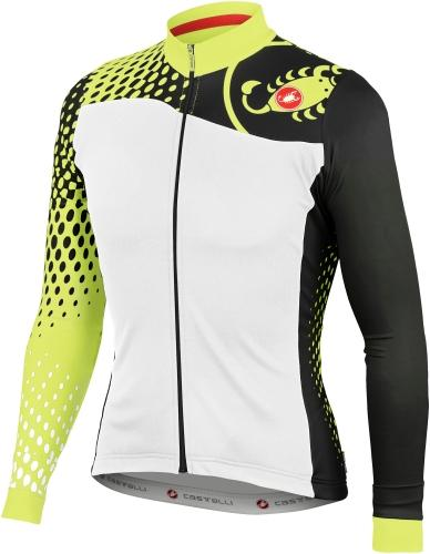 Castelli Sfida Winter Cycling Jersey - White Black - Classic Cycling