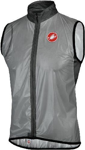 Castelli Sottile Cycling Rain Vest - Transparent Gray - 2XL ONLY - Classic Cycling