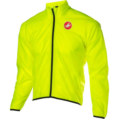 Castelli Squadra Wind Jacket - Fluorescent Yellow - Classic Cycling
