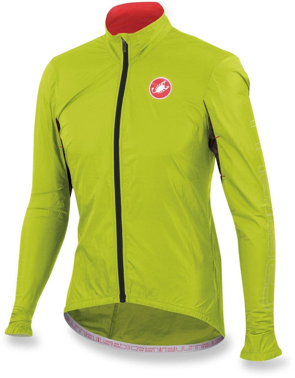 Castelli Velo Jacket - Fluo Yellow - Classic Cycling