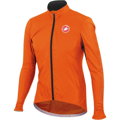 Castelli Velo Jacket - Fluorescent Orange - Classic Cycling