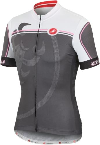 Castelli Velocissimo Giro Jersey FZ Anthracite-White-Lime - Classic Cycling