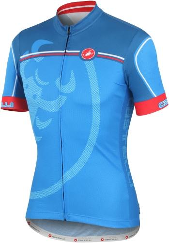 Castelli Velocissimo Giro Jersey FZ Blue-Red - Classic Cycling