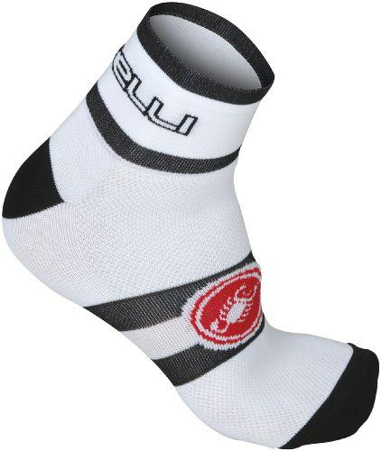 Castelli Velocissimo Gruppo Cycling Sock 6cm - White - Classic Cycling