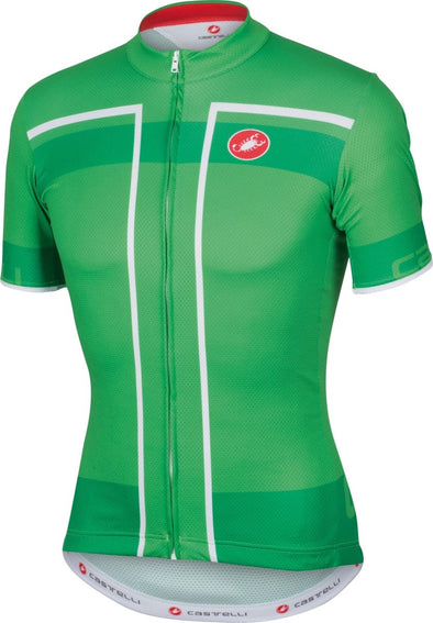 Castelli Velocissimo Jersey FZ - Race Green - Classic Cycling