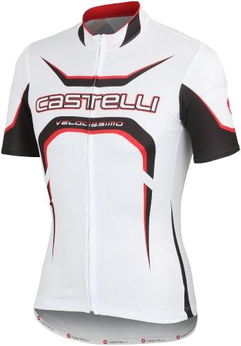 Castelli Velocissimo Tour Jersey FZ White-Black-Red - Classic Cycling