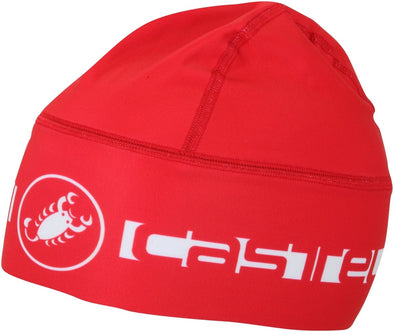 Castelli Viva Thermo Skully Winter Cap - Red - Classic Cycling