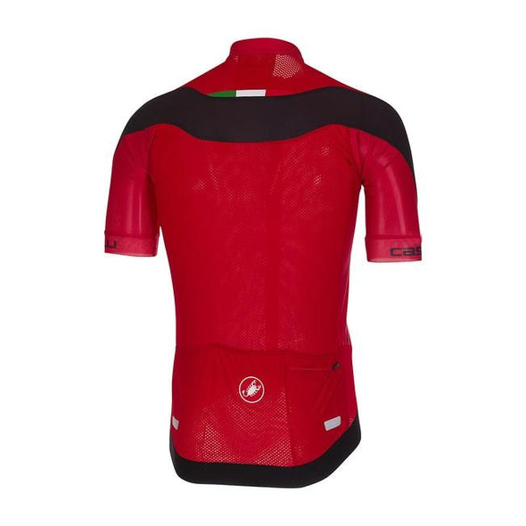 Castelli Volata 2 Jersey FZ -  Red - Classic Cycling