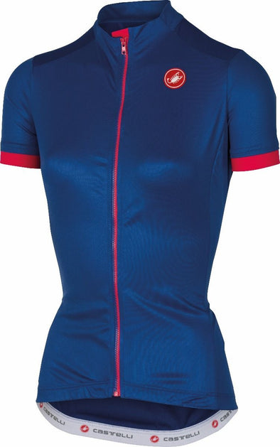 Castelli Women's Anima 2 Jersey FZ - Blue - Classic Cycling