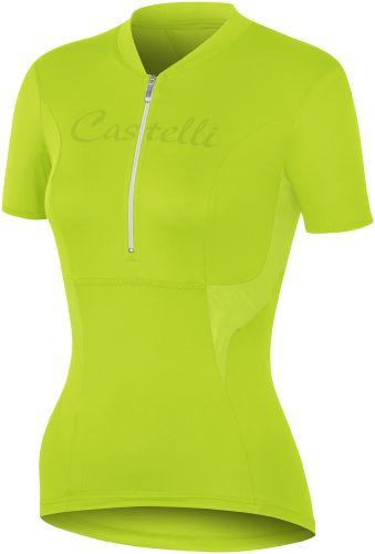 Castelli Womens Dolce Cycling Jersey - Acid Green - Classic Cycling