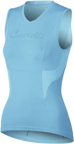Castelli Womens Dolce Cycling Sleeveless Jersey - Turquoise - Classic Cycling