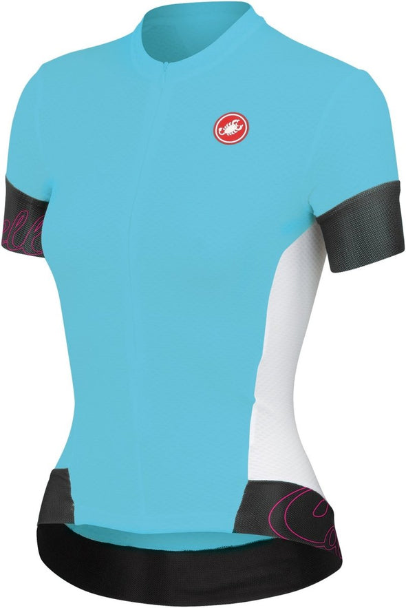 Castelli Womens Fortuna Jersey - Atoll Blue-White - Classic Cycling